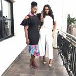 ebube nwagbo and mercy johnson at glo event