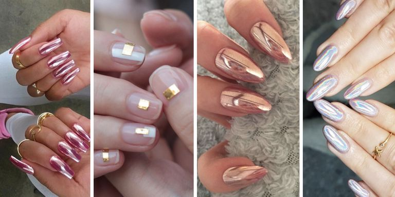 Chrome Nail Effect