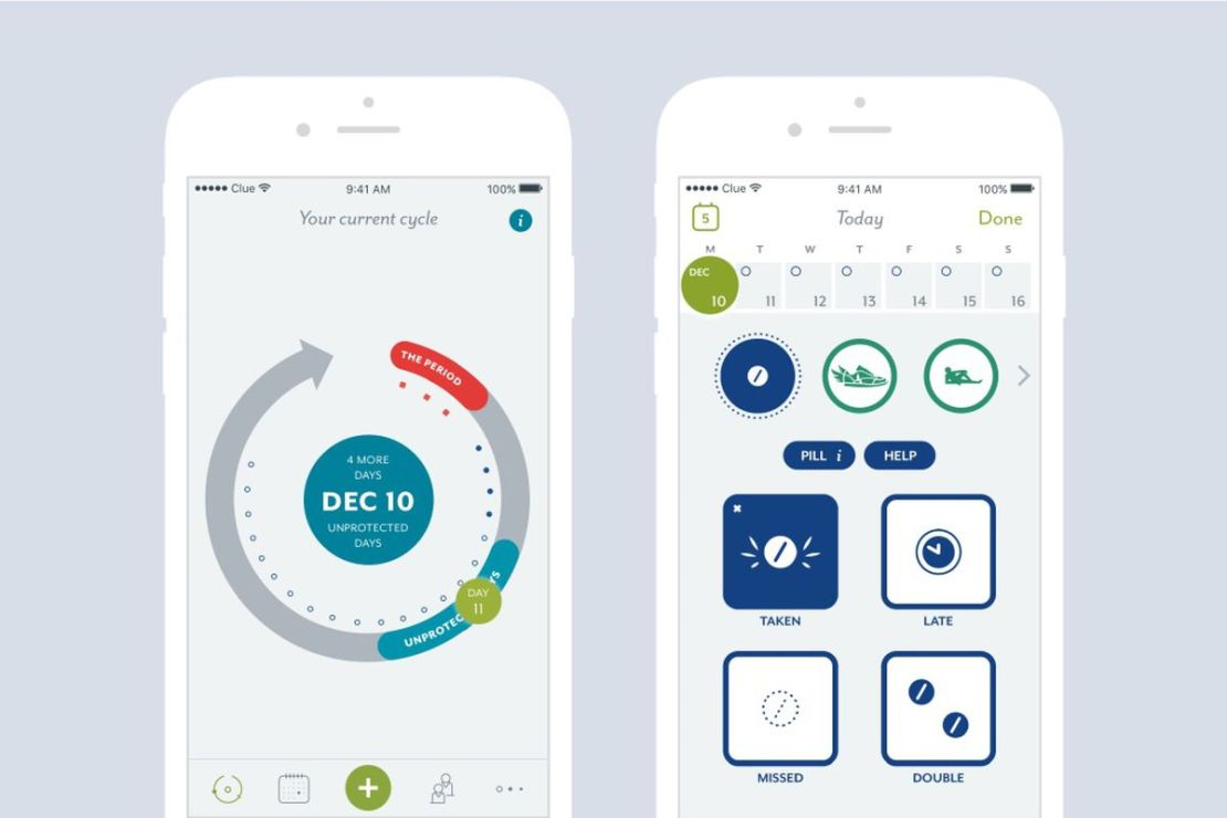 clue app track your menstrual cycle
