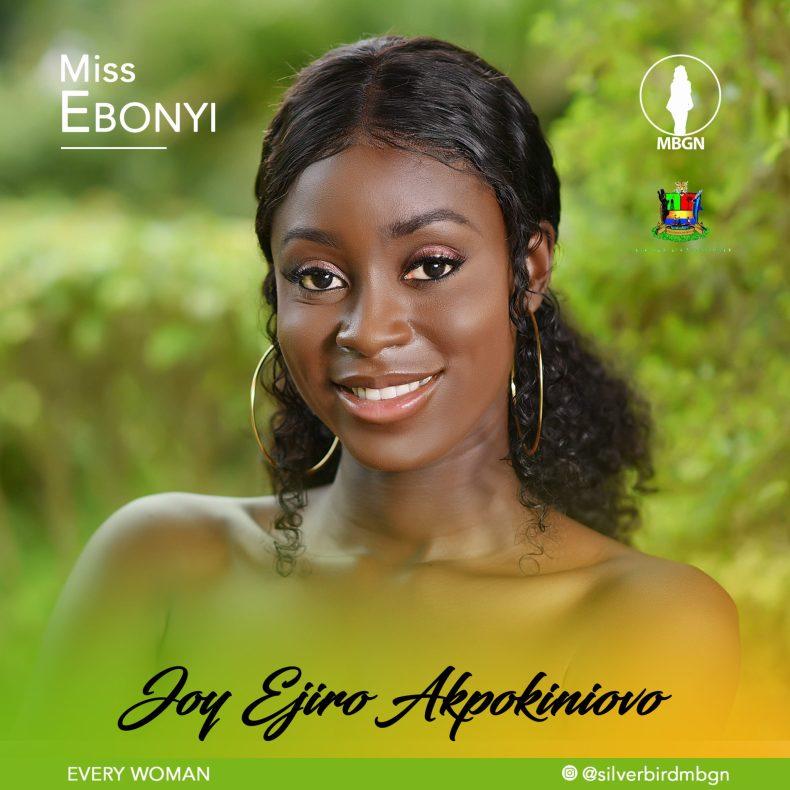 Miss Ebonyi MBGN 2019 Joy Ejiro Akpokiniovo