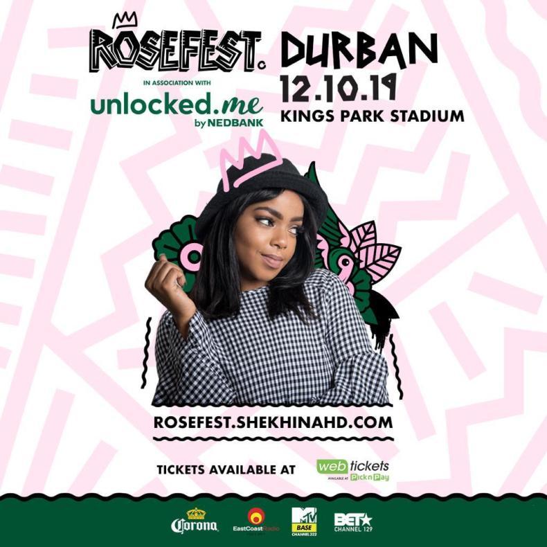 shekhinah is taking rosefest to durban