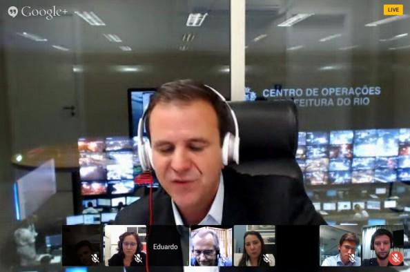 hangout_prefeito_eduardopaes_mobilidade_debate_2013