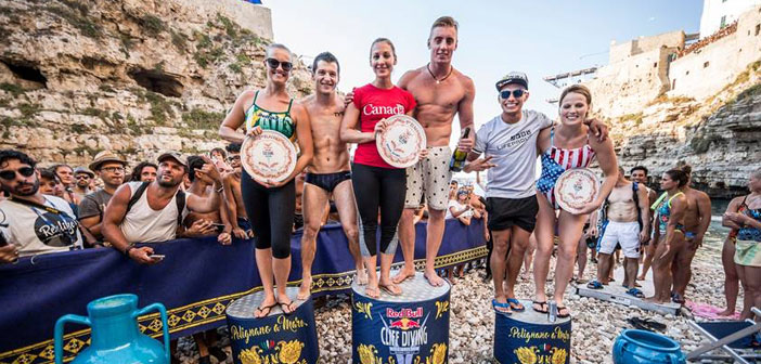 Jonathan Paredes, 3er lugar del Red Bull Cliff Diving en Italia