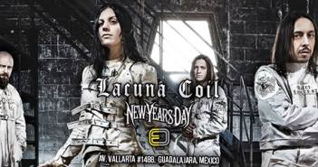 Lacuna Coil / New Years Day en Guadalajara