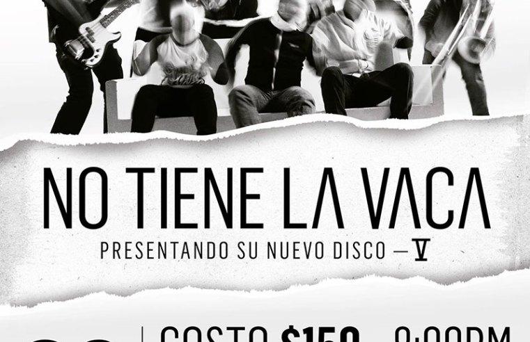 NO TIENE LA VACA presenta su nuevo disco «V»