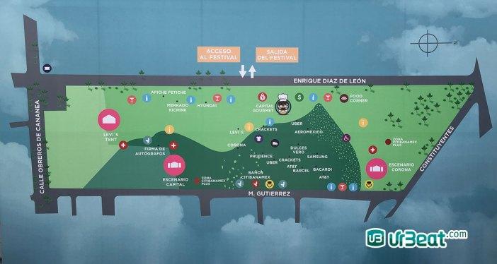 Corona Capital Guadalajara 2018 Mapa