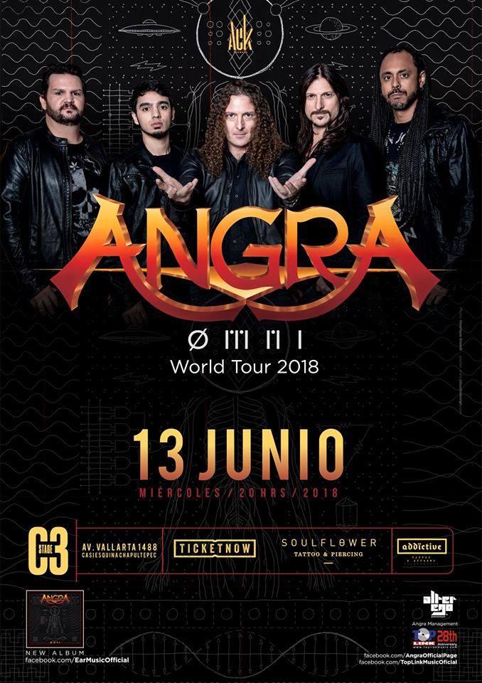 Angra en Guadalajara 2018