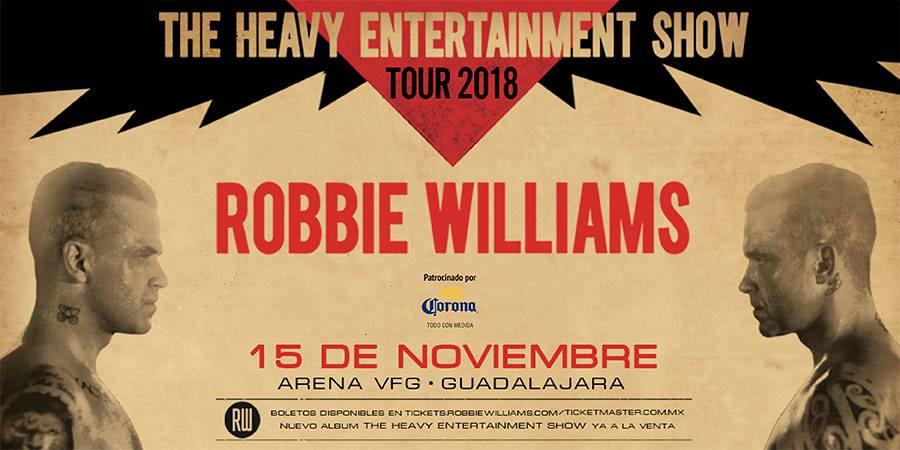 Robbie Williams en Guadalajara 2018