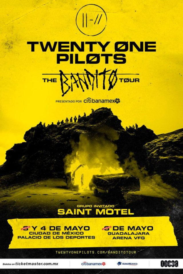 Saint Motel será la banda abridora de TWENTY ONE PILOTS