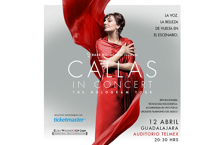 María Callas The Hologram Tour GDL 2019