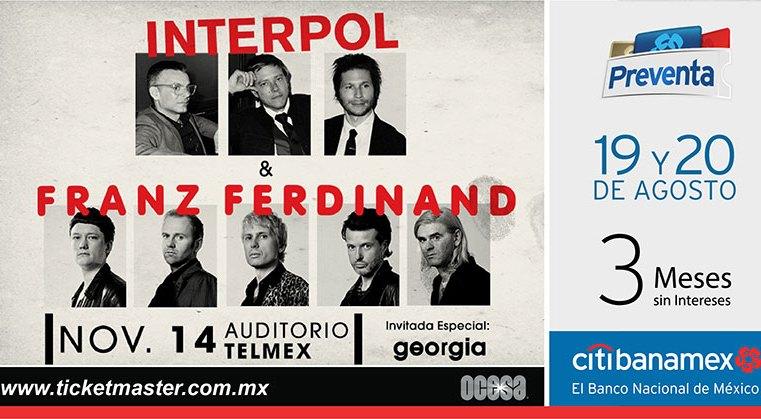 Franz Ferdinand e Interpol Guadalajara 2019