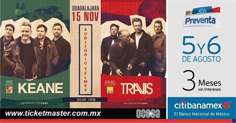 Keane y Travis Guadalajara 2019