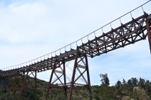 Looking up at a viaduct