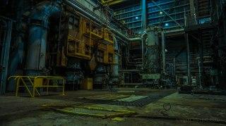 Beneath the turbines