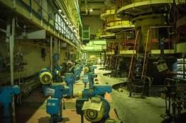 Turbinenraum von Block 3 des Kernkraftwerkes von Tschernobyl