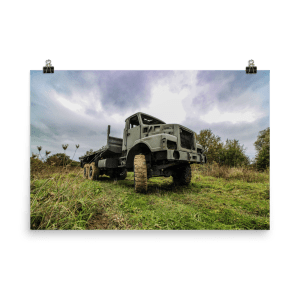 Lost Army Truck Poster Print 24x36
