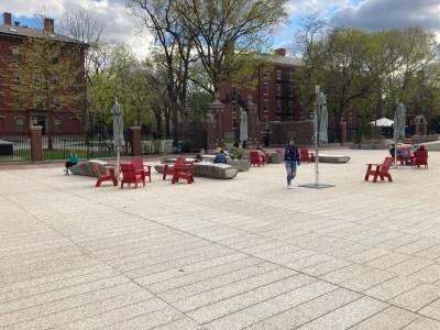 Harvard Science Center Plaza, Harvard University in Cambridge, MA