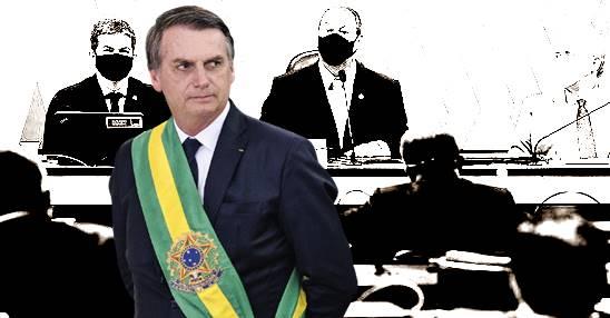 Bolsonaro chama Omar Aziz, Renan e Randolfe de 'três patetas'