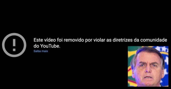 Vídeos de Bolsonaro no YouTube são excluídos por menção à cloroquina