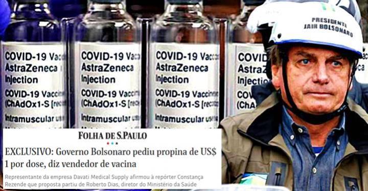 Governo desmorona: Diretor do MS pediu propina de US$ 1 por dose da AstraZeneca, diz a Folha