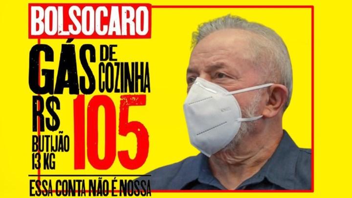 """""""BOLSOCARO"""": site LULA ataca """"mentiras"""" das promessas de Bolsonaro, como o """"gás a R$ 35 reais"""""""