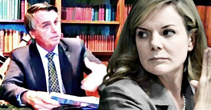 """A batata tá assando"", diz Gleisi sobre Bolsonaro"