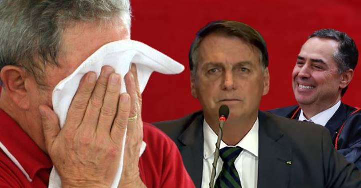 Bolsonaro confessa que mentiu, que nunca teve prova de fraude e acusa Barroso querer eleger Lula
