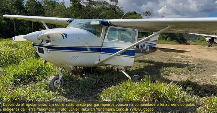 Yanomami morre atropelado por avião de garimpeiros