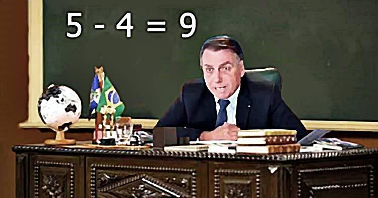"""A Matemática de Bolsonaro: """"Se é 5% positivo, o ano passado foi 4% negativo, crescemos 9%"""""""