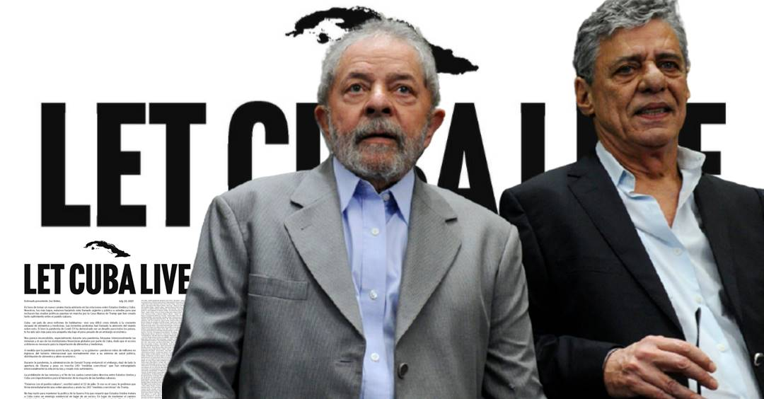 LULA e Chico Buarque estão entre os signatários do 'Let Cuba Live' contra 'El Bloqueo' dos EUA na ilha