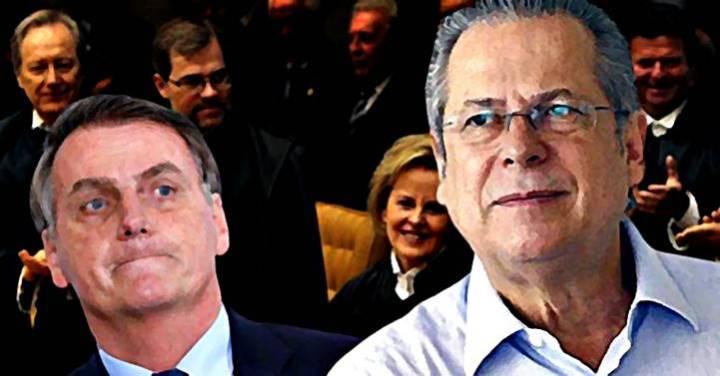 José Dirceu pede que STF investigue Bolsonaro por uso de seu nome para atacar ministros da Corte
