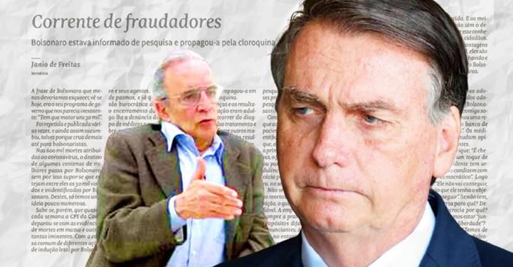 Janio de Freitas descreve Bolsonaro como um 'Inseto Repelente', diz jornalista