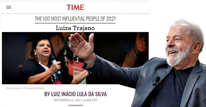 'TIME' publica artigo de LULA sobre Luiza Trajano, incluída na lista das '100 Pessoas Mais Influentes do Mundo em 2021'
