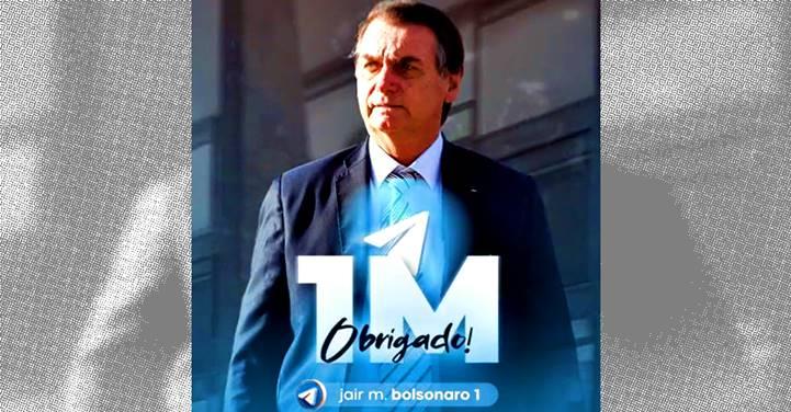 Bolsonaro já tem 1 milhão de seguidores em mídia com mais potencial de disparos em massa que o WhatsApp