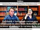 Espanha repercute fake news removida dos perfis de Bolsonaro por relação da vacina contra a Covid com AIDS