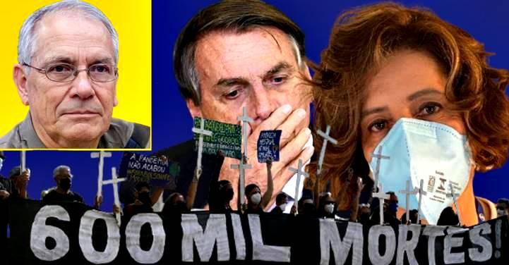 """Leitão atribui 600 mil mortes a Bolsonaro e toma invertida de 'Coronel Siqueira': """"Tem seu dedo aí"""""""