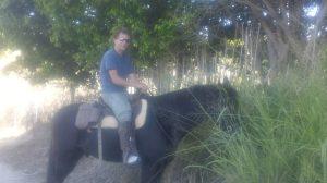 Matt riding Bubba