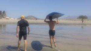 Surfing in Baja