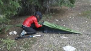 tarp tent, cdt tent, mountain laurel designs tent, solo trekker