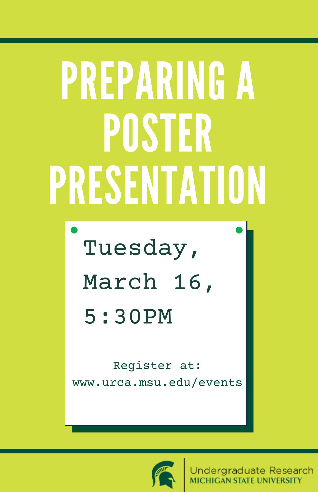 preparing poster presentations