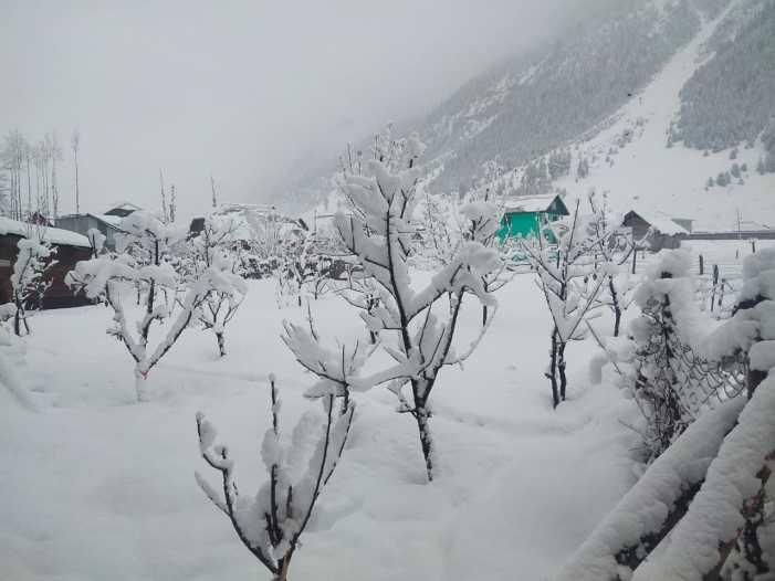 کشمیر: برف و باراں کے بعد سردی کی شدت میں مزید اضافہ