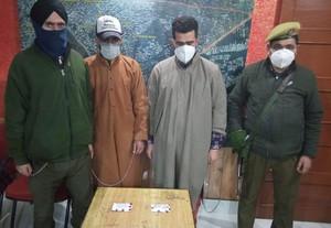 پولیس کا سری نگر میں دو منشیات اسمگلر گرفتار کرنے کا دعویٰ