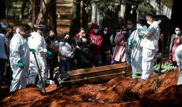 برازیل میں کورونا سے ایک دن میں 1110 افراد ہلاک