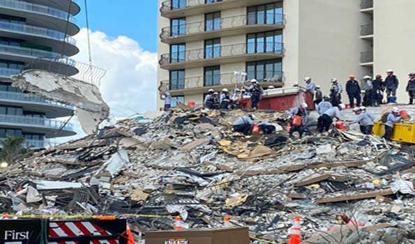 فلوریڈا: عمارت گرنے سے ہلاکتوں کی تعداد 11 ہوگئی،14 کی تلاش ہنوزجاری