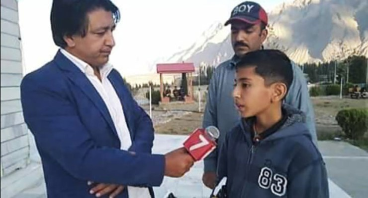 Kid from Skardu Gilgit-Baltistan makes his own drone.