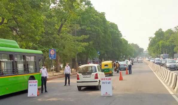 a view of national capital of delhi after ease in lockdown norms.