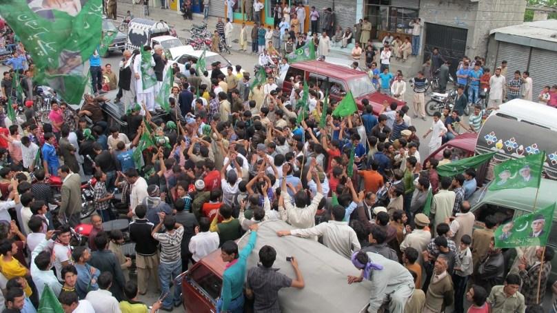 آل پاکستان مسلم لیگ کا گلگت میں دھرنا، مشرف کو رہا کرنے کا مطالبہ