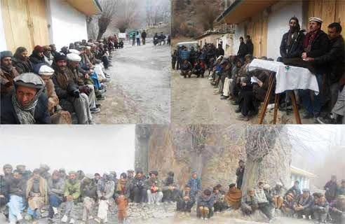 وادی یارخون کوبنیادی سہولیات کی فراہمی تک احتجاجی تحریک جاری رکھیں گے عمائدین