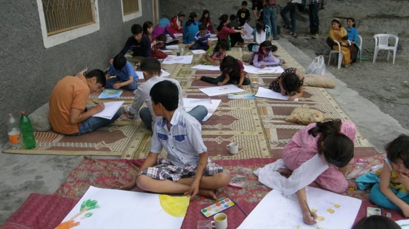 گلگت، بچوں کے لئے پینٹنگ مقابلے کا انعقاد