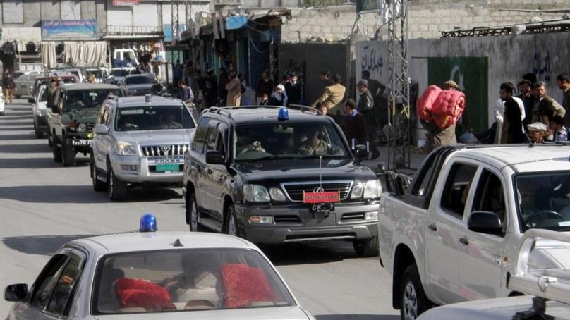 محرم الحرام کی تیاری، گلگلت میں سکیورٹی اداروں کا فلیگ مارچ